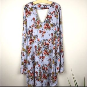Mossimo Womens Floral Print Tunic Size M Cutout